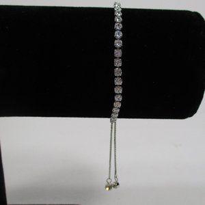 Silver Tennis Slider Bracelet NWOT
